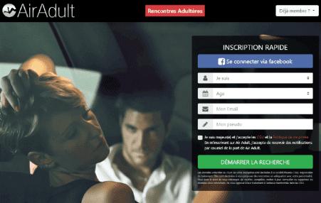 screenshot page accueil Air-adult.com