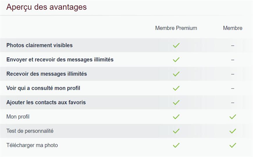 page difference entre abonnement premium et non premium be2