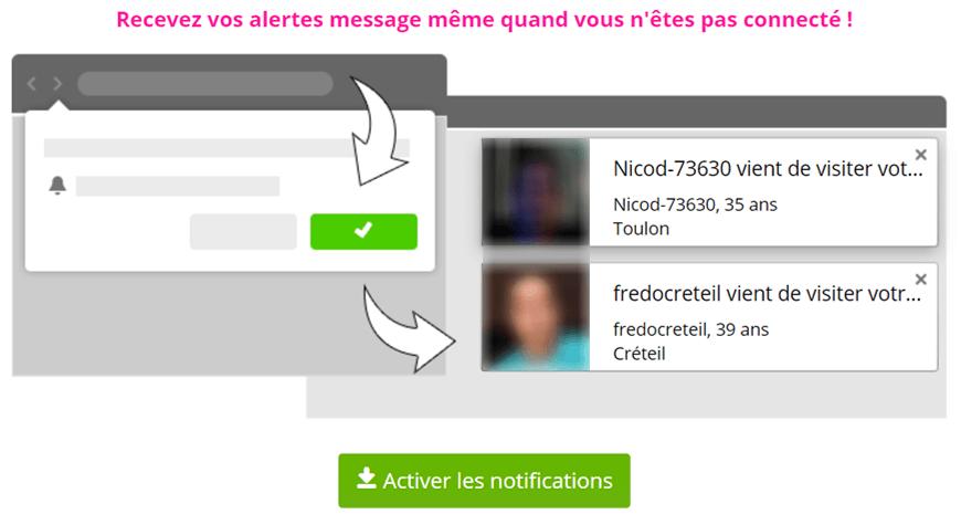 screenshot popup activer notification hors connexion erotilink