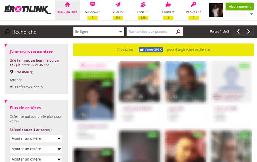 screenshot interface erotilink