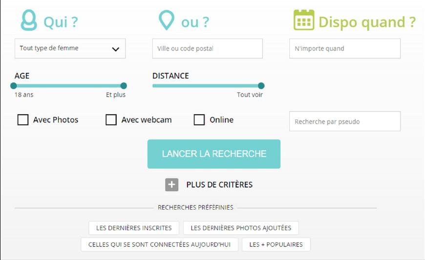 screenshot module de recherche idilys