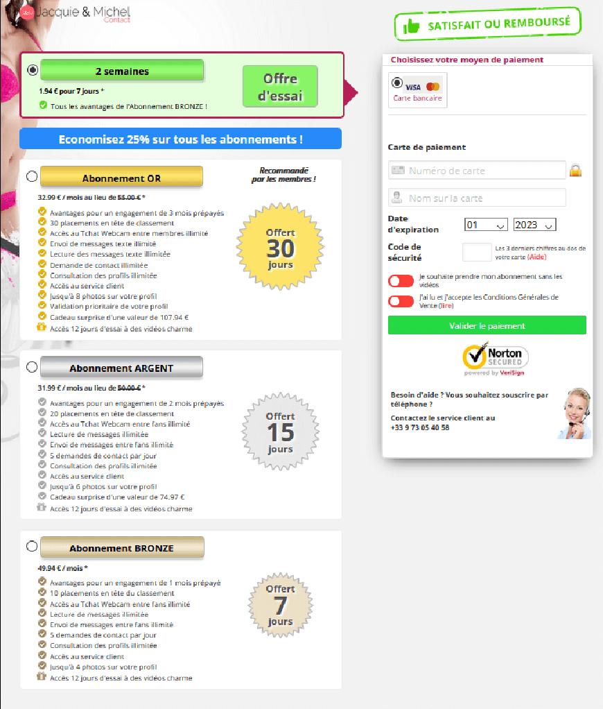 page tarifs abonnement jmc