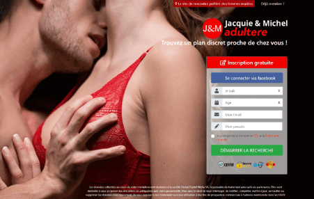 screenshot page accueil Jacquieetmichel-Adultere