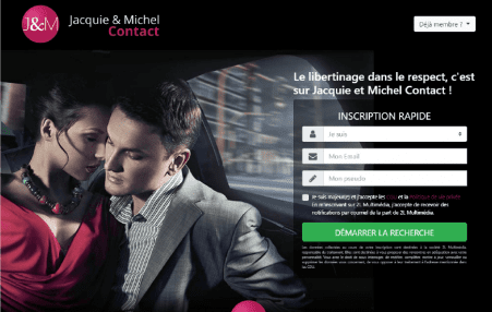 screenshot page accueil Jacquieetmichel-Contact