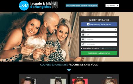 screenshot page accueil Jacquieetmichel-Echangistes