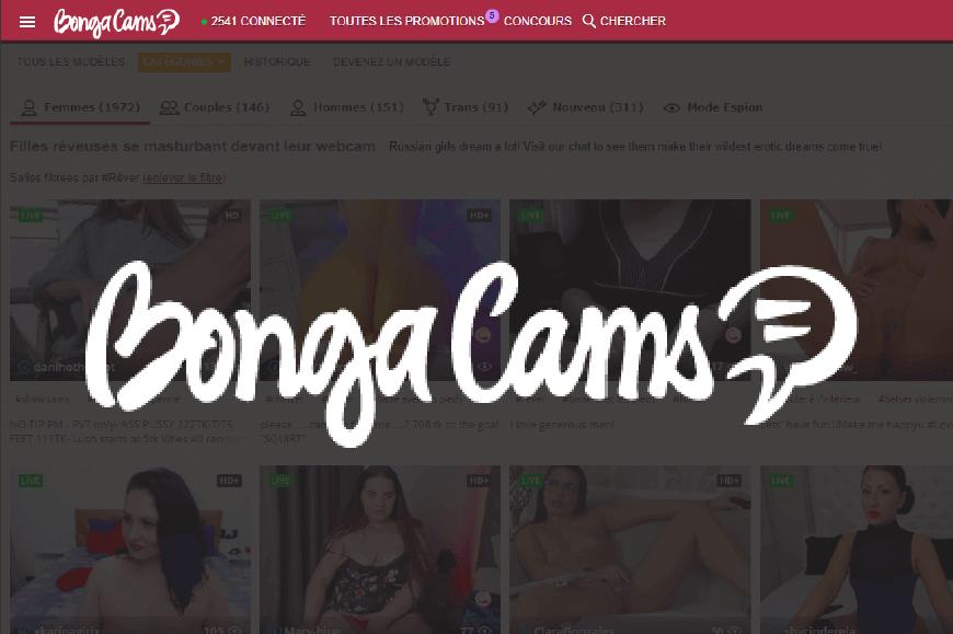 page acceuil logo bongacams