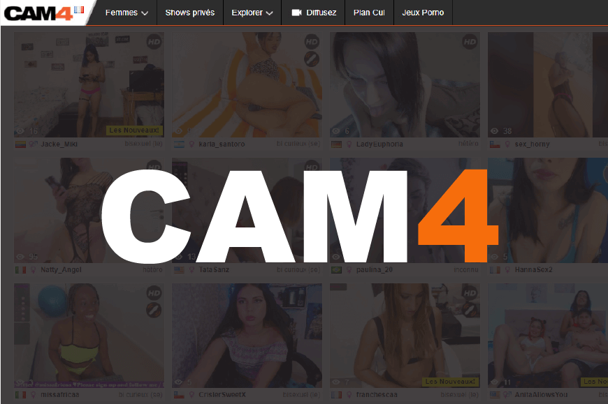 page acceuil logo cam4