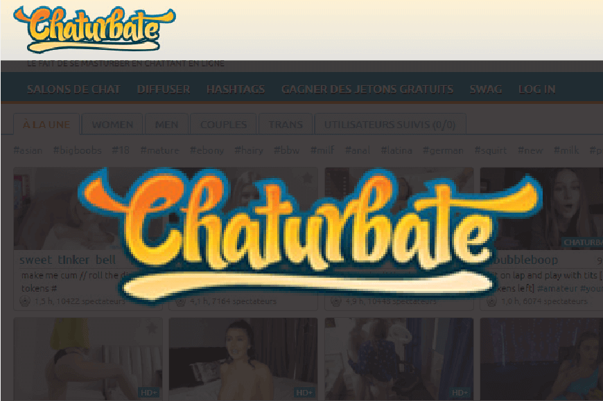 page acceuil logo chaturbate