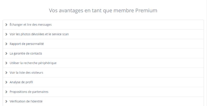 liste avantage membre premium parship