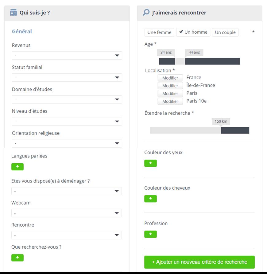 page modification parametre recherche rencontre echangistes-fr