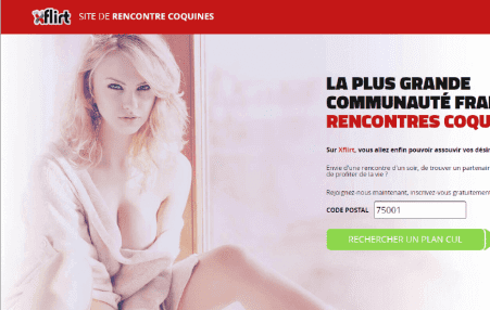 screenshot page accueil Xflirt