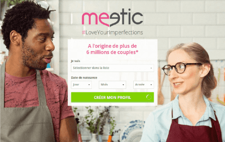 screenshot page accueil Meetic