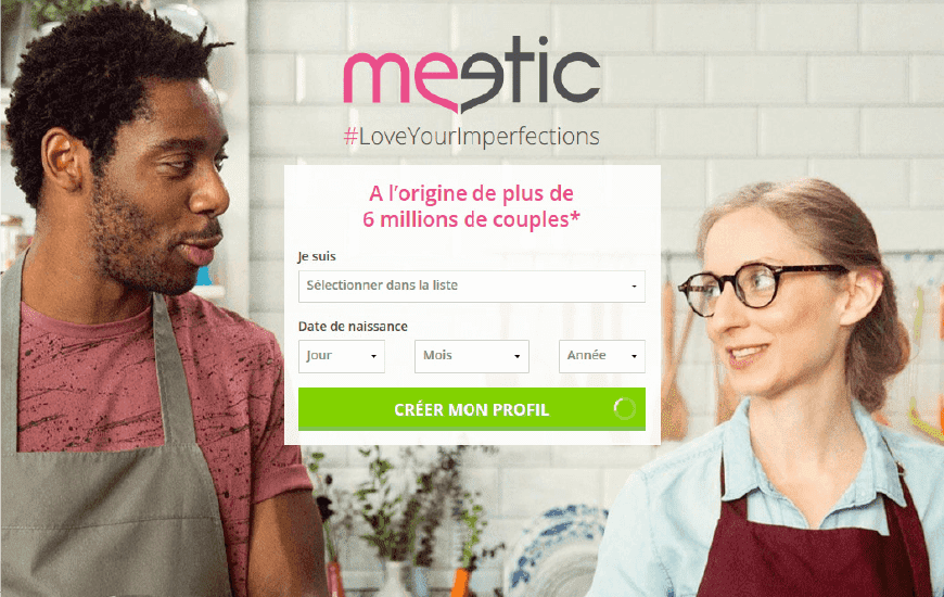page accueil meetic
